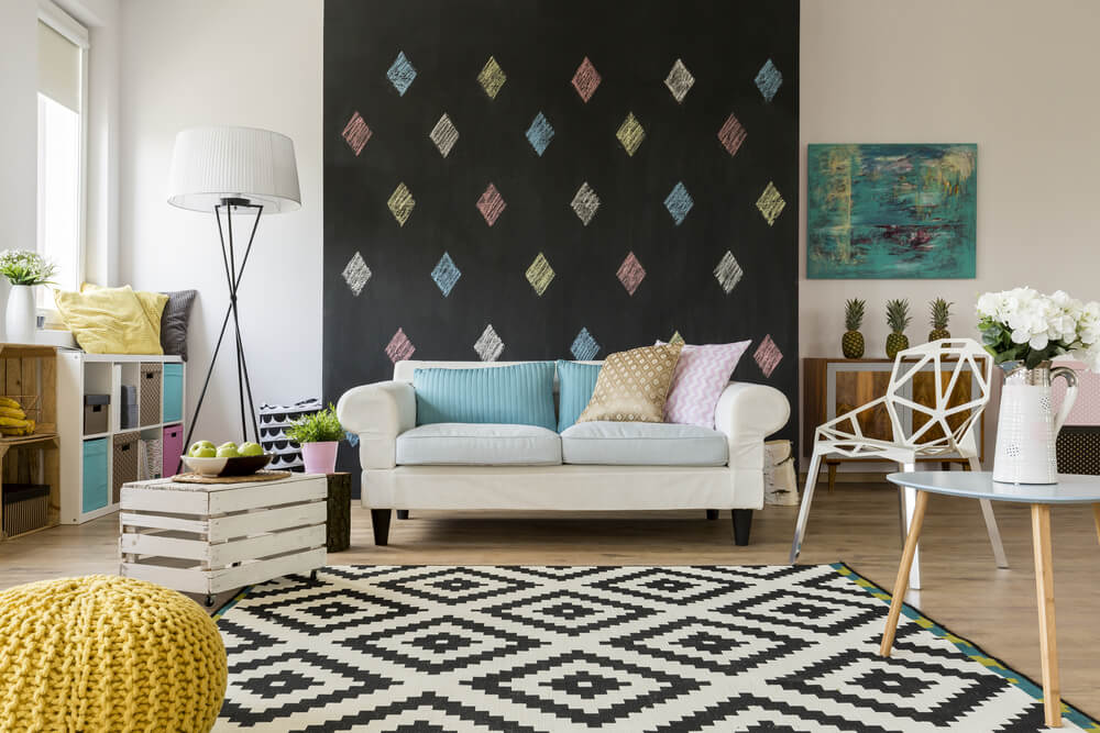 decorate with area rugs
