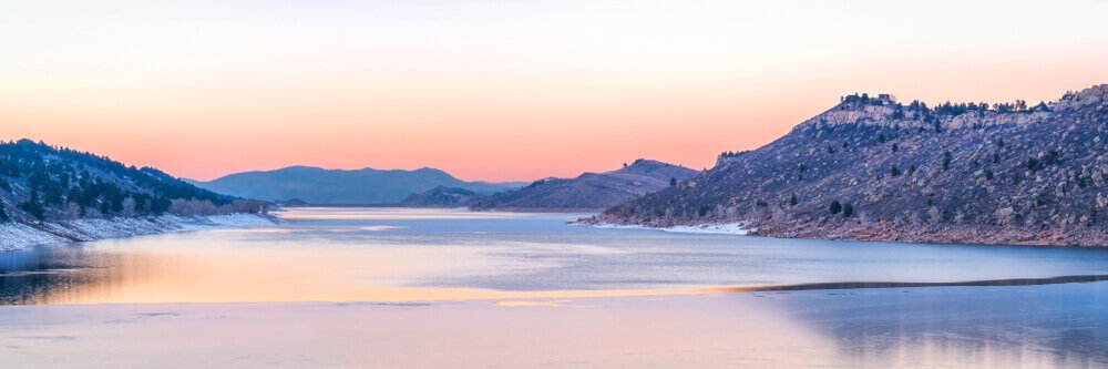 horsetooth reservoir by Fort Collins, Colorado